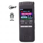 Enregistreur vocal Professional 8 Go LCD numérique avec lecteur MP3 VOR Noir n°2 - wewoo.fr