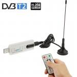 Solutions DVB-T & ISDB-T USB 2.0 Stick avec télécommande et fonction radio FM soutien MPEG-4 H.264 AVC encodage MPEG 2 blanc ...
