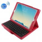 Clavier iPad Air 2 Bluetooth Litchi Texture Smart Cover étui en cuir avec support et fonction Sommeil Rouge - wewoo.fr