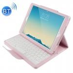 Clavier iPad Air 2 Bluetooth Litchi Texture Smart Cover étui en cuir avec support et fonction Sommeil Rose - wewoo.fr