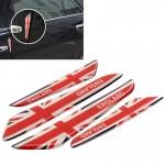 Autocollant anti choc voiture 4 PCS UK Flag modèle de porte en fibre carbone Protecteur latérale bord - wewoo.fr