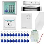 Kit de contrôle d'accès RFID Kits système + serrure magnétique 20 10 ID Keyfobs Cartes Alimentation Sonnette Bouton sortie -...