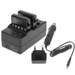 Chargeur Batterie GoPro AHDBT-401 Appareil photo numérique Double de + voiture Adaptateur HERO4 - wewoo.fr