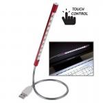 Lampe USB 10 LED portable tactile Commutateur 10-Light Rouge - wewoo.fr