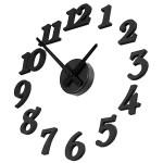 Horloge murale Creative bricolage adhésif Figure décoration de la maison, Diamètre: 38.5cm Noir - wewoo.fr