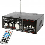 Ampli HiFi Stéréo Audio MP3 Amplificateur de puissance avec télécommande support USB FM carte SD MMC lecteur numérique 180W +...