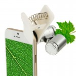 Microscope iPhone téléphone LED Clip-type universel 60X / microlentille - wewoo.fr