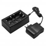 Chargeur de piles batterie 16340 / CR123A 18650/17670 sortie: 5.5V 450mA Plug-US Noir - wewoo.fr