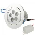 Spot LED encastrable 5W blanche Jours lanternes Ampoule / Lumière Down Flux lumineux: 400-450lm - wewoo.fr