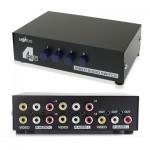 Splitter RCA 4 ports Entrée 1 Sortie Audio Vidéo AV Box - wewoo.fr