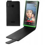 Housse en cuir Microsoft Flip Case verticale du champ magnétique Attraper Lumia 435 Noir n°2 - wewoo.fr