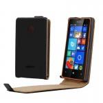 Housse en cuir Microsoft Bouton Flip magnétique vertical Lumia 435 Noir - wewoo.fr