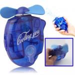 Ventilateur électrique avec pulvérisation d'eau puissant Safe Fan Blades, Taille: A propos de 109 x 73 27mm Bleu - wewoo.fr