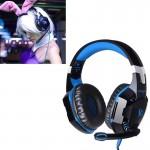 Casque PC CHAQUE Over-oreille basse stéréo Gaming Headset avec micro et LED ordinateur, Longueur du câble: 2.2m Bleu - wewoo.fr