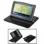 Accessoire GPS voiture Universal Holder support berceau anti-dérapant tapis 4.3 / 5.0 pouces GPS, iPhone 4 3GS 3G, MP4 noir ...