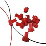 Clip de câble 100 PCS, adapter au diamètre ligne: 0.3-0.7mm rouge - wewoo.fr