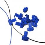 Serre-câble 100 PCS, Adapté au diamètre de la ligne: 0,8-2,0 mm bleu - wewoo.fr