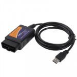 Outil diagnostique automatique de scanner d'ELM327 d'interface USB V1.4 OBDII n°2 - wewoo.fr