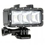 LED waterproof GoPro SupTig 30M étanche 300LM lumière vidéo caméra / Dazzne Yi Noir - wewoo.fr