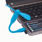 Ventilateur électrique flexible USB portable alimenté 2 pales du Bleu - wewoo.fr