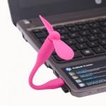 Ventilateur électrique flexible USB portable alimenté 2 pales du Magenta - wewoo.fr