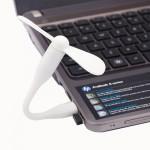 Ventilateur électrique flexible USB portable alimenté 2 pales du Blanc - wewoo.fr