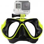Masque de plongée GoPro Sports nautiques Équipement Lunettes natation HERO4 / 3 + 3/2/1 vert - wewoo.fr