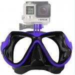 Masque de plongée GoPro Équipement Sports nautiques Lunettes natation HERO4 / 3 + 3/2/1 Bleu - wewoo.fr