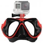 Masque de plongée GoPro Équipement Sports nautiques Lunettes natation HERO4 / 3 + 3/2/1 Rouge - wewoo.fr