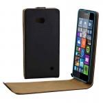 Housse en cuir Microsoft Bouton Flip magnétique vertical Lumia 640 Noir - wewoo.fr