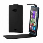 Housse en cuir Microsoft Bouton Flip magnétique vertical Lumia 540 Noir - wewoo.fr