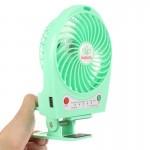 Ventilateur électrique Hadata 4,3 pouces Portable USB / Li-ion à piles rechargeable avec troisième réglage de la vitesse du v...