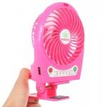Ventilateur électrique Hadata 4,3 pouces Portable USB / Li-ion Fan rechargeable à piles avec troisième réglage de vitesse du ...