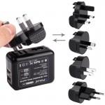 Chargeur Batterie GoPro 2 ports USB 5V 2.1A + 2.1A mural avec amovible UK UE US UA Plug adaptateurs de voyage HERO5 / 4/3 3/2...