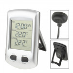 Thermomètre intérieur et extérieur avec horloge / calendrier - wewoo.fr