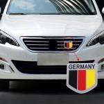 Emblème de voiture MZ Universal Allemagne Drapeau modèle en alliage d'aluminium Calandre - wewoo.fr