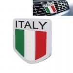 Emblème de voiture MZ Universal Motif Drapeau Italie en alliage d'aluminium Calandre - wewoo.fr