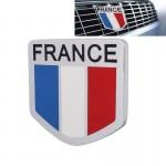 Emblème de voiture MZ Universal France Drapeau modèle en alliage d'aluminium Calandre - wewoo.fr