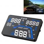 Affichage tête haute Q7 5.5 pouces GPS HUD du véhicule monté Head Up Display Système de sécurité, support vitesse et en temps...