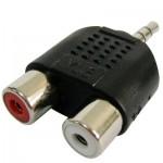 Adaptateur RCA Femelle à 3.5 MM Jack Audio Y - wewoo.fr