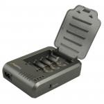 Chargeur de piles TR-003P4 trustfire 1x4 cylindrique universelle Li-ion batterie 10430/10440/14500/16340/17670/18500 - wewoo.fr