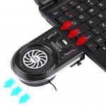 Support de refroidissement PC portable Ordinateur Notebook Pad Mute Air Extraction Ventilateur Turbo Radiateur Chaleur Câble ...