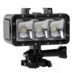 LED waterproof GoPro Lumière vidéo imperméable à l'eau de 30M 3 modes avec support base et vis la session HERO4 / 4/3 + 3/2/1...