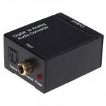 Adaptateur RCA Numérique optique Coax analogique audio Noir - wewoo.fr