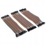 Platine d'expérimentation 40 PC Breadboard mâle à / femelle cavalier de câble 120 par paquet - wewoo.fr