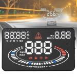 Affichage tête haute E300 5,5 pouces OBDII / EUOBD HUD monté sur véhicule Head Up Display Système de sécurité, soutien vitess...
