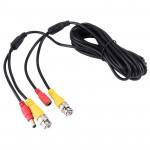 CCTV Câble, Câble d'alimentation vidéo, coaxial RG59, Longueur: 5m Noir - wewoo.fr