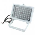 Lumière auxiliaire caméra CCD 48 LED la CCD, IR Distance: 60-80m ZT50-4W, Taille: 12.8x9x8cm Blanc - wewoo.fr