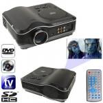 Vidéoprojecteur DVD Projecteur avec récepteur TV Portable Fonction PAL / NTSC SECAM, AV IN OUT et de jeu, Support carte SD MM...