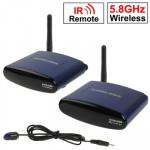 1.5 GHz & 5.8 5.8GHz 4 canaux sans fil AV Émetteur et Récepteur, Compatible avec DVD, magnétoscope numérique, caméra CCD, IPT...